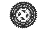 100% Certified biodegradable and compostable plastic