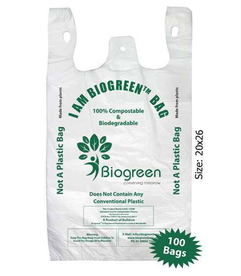 Biodegradable Compostable Grocery Bag 16x20 inches