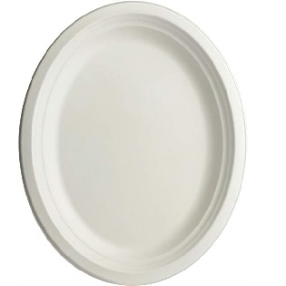 Biodegradable and Compostable Plain Oval Plate