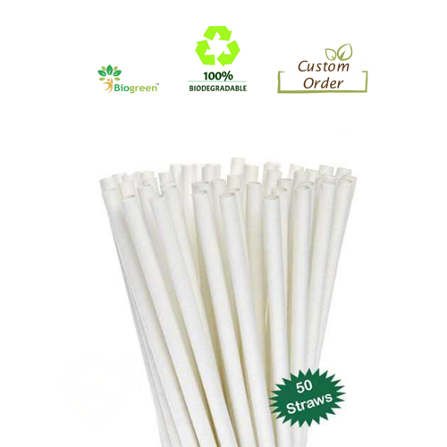 Biodegradable and Compostable straws 10mm