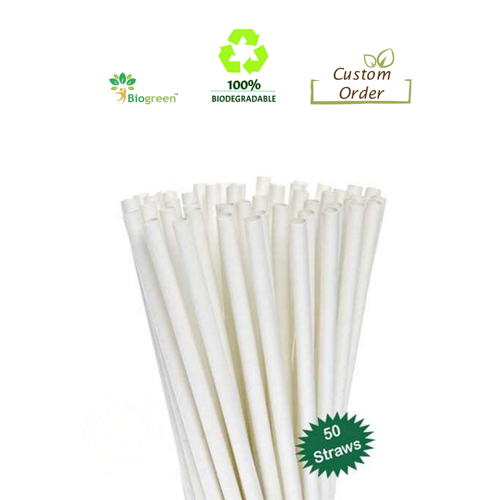 Biodegradable and Compostable straws 8mm