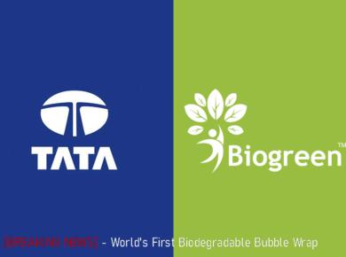 World's first Biodegradable Bubble Wrap Tata Motors and Biogreen